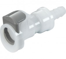 Quick Connect Female Connector / End Stop (1/4″ Hose Barb)